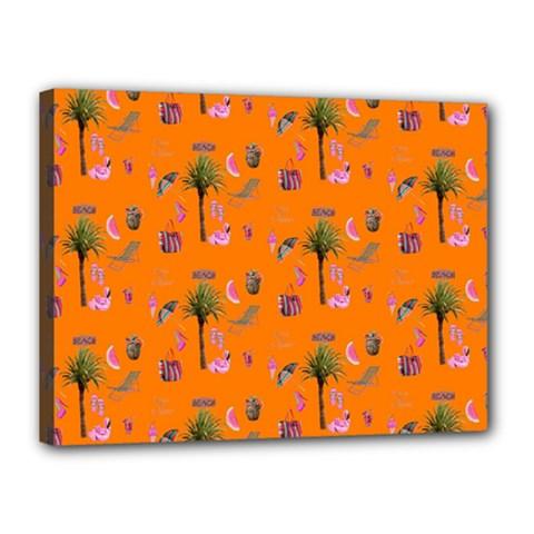 Aloha   Summer Fun 2c Canvas 16  X 12  by MoreColorsinLife