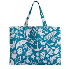 Summer Icons Toss Pattern Zipper Mini Tote Bag by Mariart