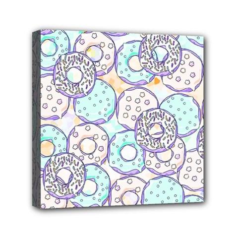 Donuts Pattern Mini Canvas 6  X 6  by ValentinaDesign
