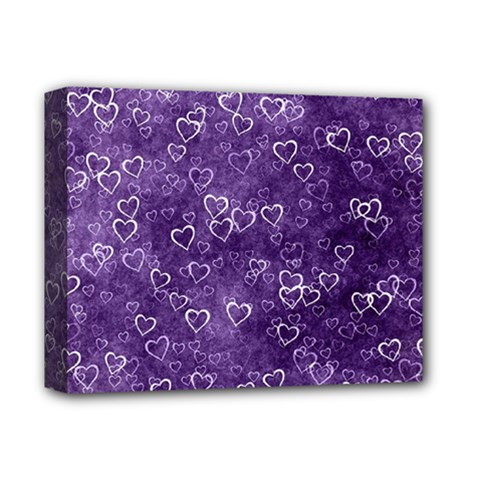 Heart Pattern Deluxe Canvas 14  X 11  by ValentinaDesign