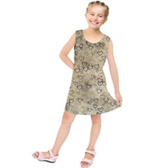 Heart Pattern Kids  Tunic Dress by ValentinaDesign