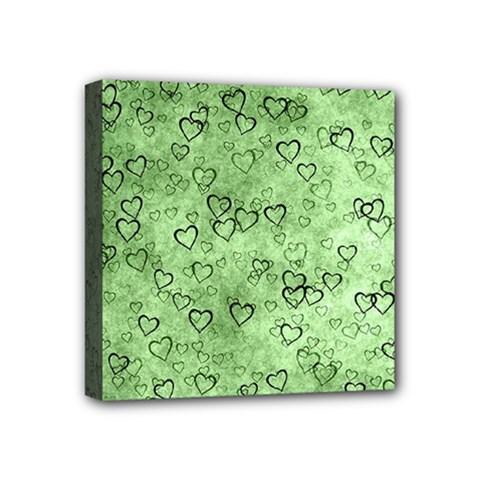 Heart Pattern Mini Canvas 4  X 4  by ValentinaDesign
