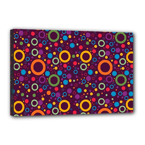 70s Pattern Canvas 18  X 12  by ValentinaDesign
