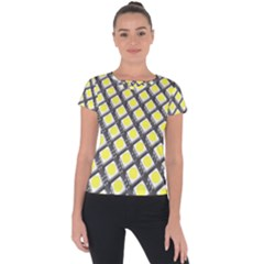 Wafer Size Figure Short Sleeve Sports Top