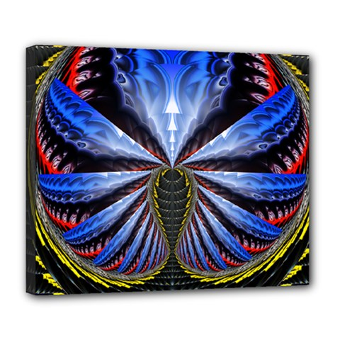Illustration Robot Wave Deluxe Canvas 24  X 20   by Mariart