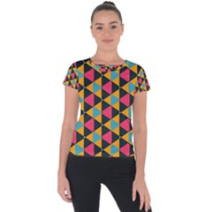 Triangles Pattern                     Short Sleeve Sports Top