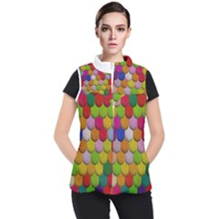 Colorful Tiles Pattern                     Women s Puffer Vest