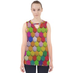 Colorful Tiles Pattern                           Cut Out Tank Top