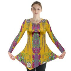 Rainy Day To Cherish  In The Eyes Of The Beholder Long Sleeve Tunic  by pepitasart