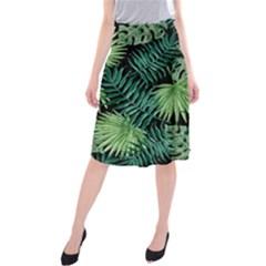 Tropical Pattern Midi Beach Skirt by ValentinaDesign