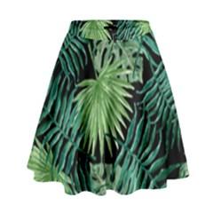 Tropical Pattern High Waist Skirt by ValentinaDesign