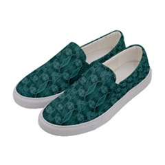 Celtic Gothic Knots Women s Canvas Slip Ons by pepitasart