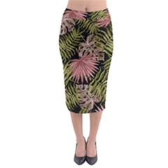Tropical Pattern Midi Pencil Skirt by ValentinaDesign