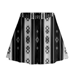 Folklore Pattern Mini Flare Skirt by ValentinaDesign