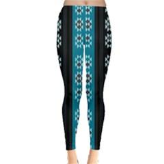 Folklore Pattern Leggings  by ValentinaDesign