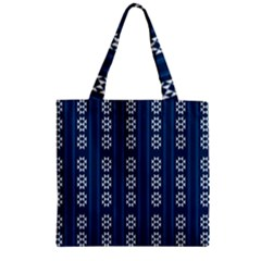 Folklore Pattern Zipper Grocery Tote Bag by ValentinaDesign
