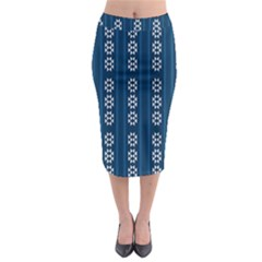 Folklore Pattern Midi Pencil Skirt by ValentinaDesign