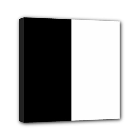Black And White Mini Canvas 6  X 6  by Valentinaart
