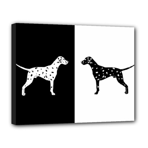 Dalmatian Dog Canvas 14  X 11  by Valentinaart