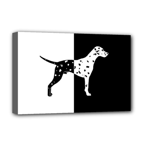 Dalmatian Dog Deluxe Canvas 18  X 12   by Valentinaart