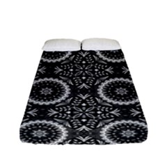 Oriental Pattern Fitted Sheet (full/ Double Size) by ValentinaDesign
