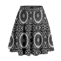 Oriental Pattern High Waist Skirt by ValentinaDesign