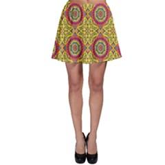 Oriental Pattern Skater Skirt by ValentinaDesign