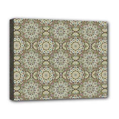 Oriental Pattern Deluxe Canvas 20  X 16   by ValentinaDesign