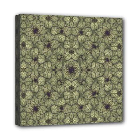 Stylized Modern Floral Design Mini Canvas 8  X 8  by dflcprints