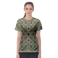 Stylized Modern Floral Design Women s Sport Mesh Tee by dflcprints
