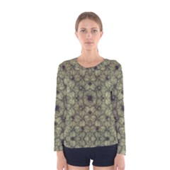 Stylized Modern Floral Design Women s Long Sleeve Tee by dflcprints