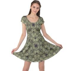 Stylized Modern Floral Design Cap Sleeve Dress by dflcprints