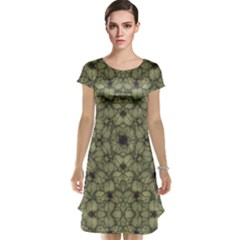 Stylized Modern Floral Design Cap Sleeve Nightdress by dflcprints