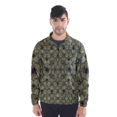 Stylized Modern Floral Design Wind Breaker (men) by dflcprints
