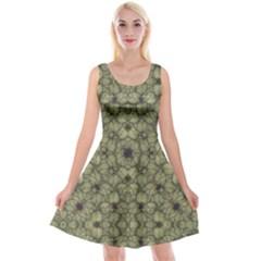 Stylized Modern Floral Design Reversible Velvet Sleeveless Dress by dflcprints