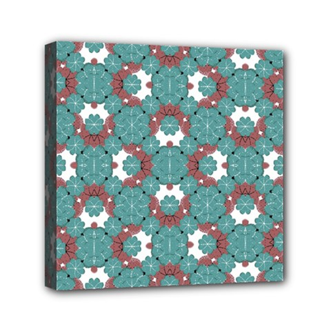 Colorful Geometric Graphic Floral Pattern Mini Canvas 6  X 6  by dflcprints