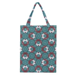 Colorful Geometric Graphic Floral Pattern Classic Tote Bag by dflcprints
