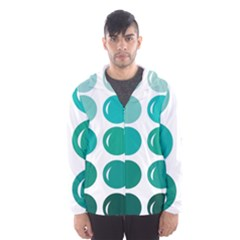 Bubbel Balloon Shades Teal Hooded Wind Breaker (men) by Mariart