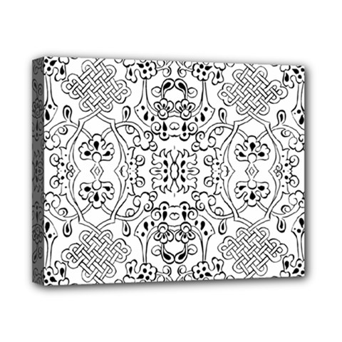 Black Psychedelic Pattern Canvas 10  X 8  by Mariart