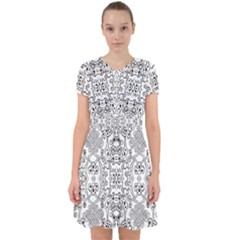 Black Psychedelic Pattern Adorable In Chiffon Dress