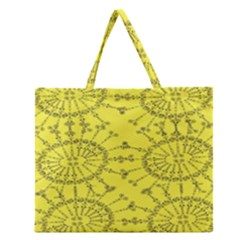 Yellow Flower Floral Circle Sexy Zipper Large Tote Bag by Mariart