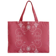 Flower Floral Leaf Pink Star Sunflower Zipper Mini Tote Bag by Mariart