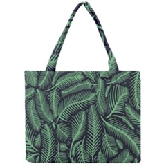 Coconut Leaves Summer Green Mini Tote Bag by Mariart