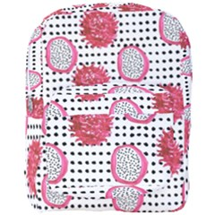 Fruit Patterns Bouffants Broken Hearts Dragon Polka Dots Red Black Full Print Backpack by Mariart