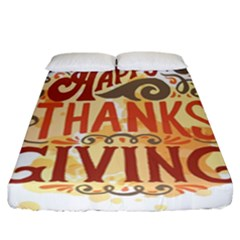 Happy Thanksgiving Sign Fitted Sheet (california King Size)
