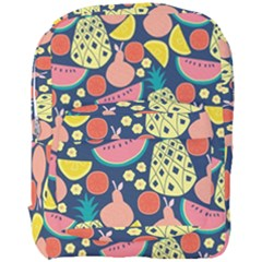 Fruit Pineapple Watermelon Orange Tomato Fruits Full Print Backpack by Mariart