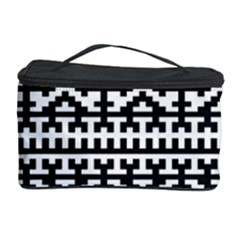 Model Traditional Draperie Line Black White Cosmetic Storage Case by Mariart