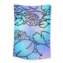 Lotus Flower Wall Purple Blue Small Tapestry by Mariart