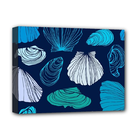 Mega Menu Seashells Deluxe Canvas 16  X 12   by Mariart