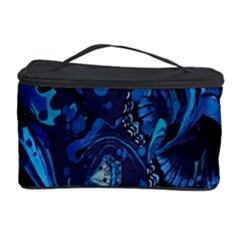 Pattern Butterfly Blue Stone Cosmetic Storage Case by Mariart